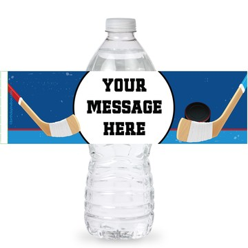 Hockey Party Personalized Bottle Labels (Sheet of 4)