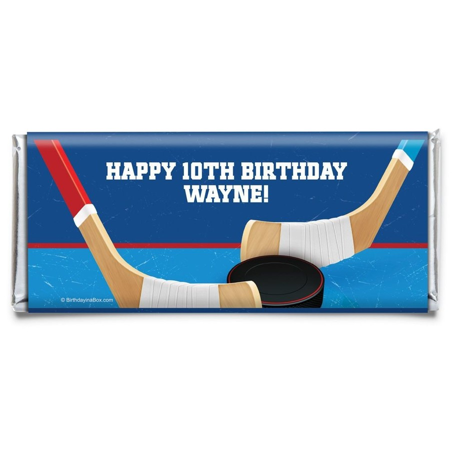 View larger image of Hockey Party Personalized Candy Bar Wrapper (Each)
