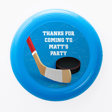 Hockey Party Personalized Mini Discs (Set of 12)