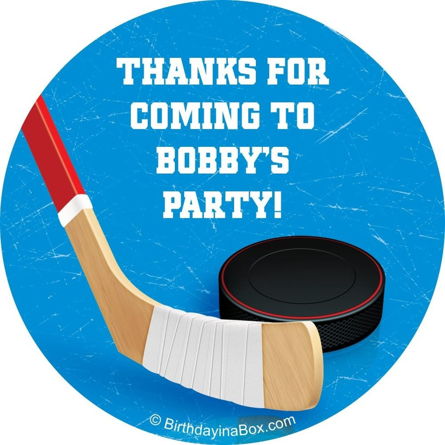 View larger image of Hockey Party Personalized Sticker