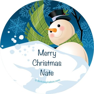 Holiday Cheer Personalized Stickers (Set of 12)
