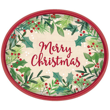 Holiday Oval Dinner Plates (8)