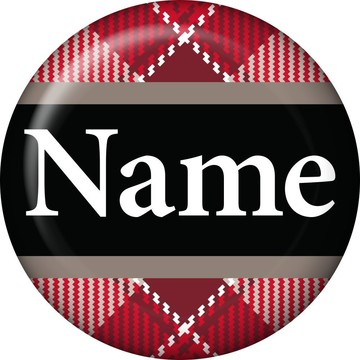 Holiday Plaid Personalized Mini Magnet (Each)