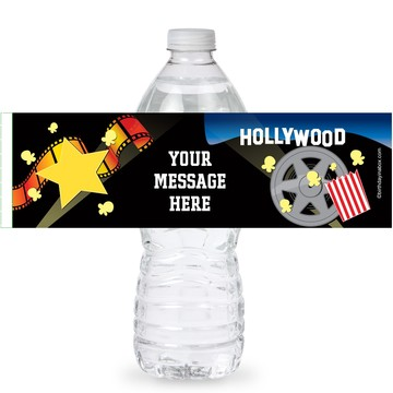 Hollywood Personalized Bottle Labels (Sheet of 4)