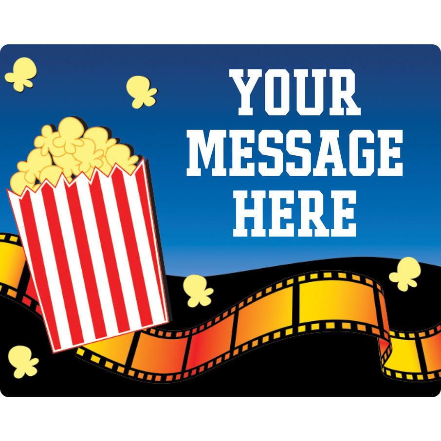 View larger image of Hollywood Personalized Rectangular Stickers (Sheet of 15)