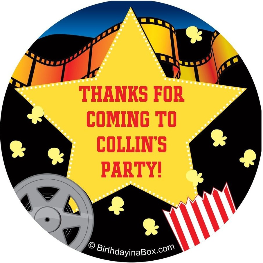 View larger image of Hollywood Personalized Sticker