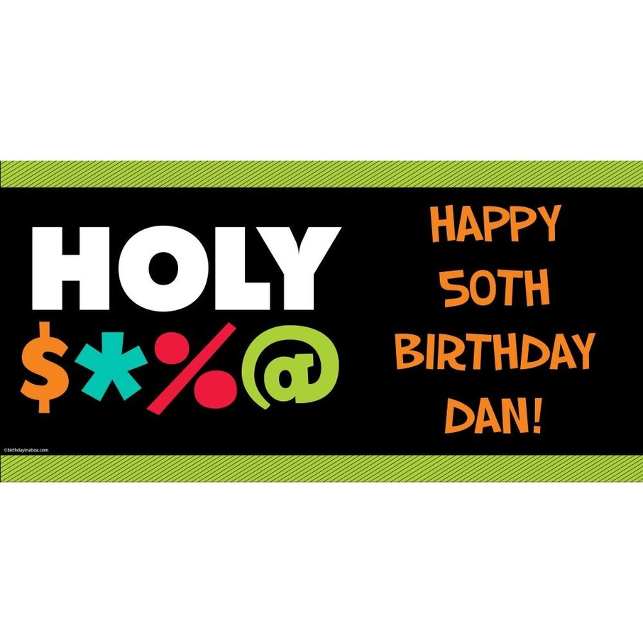 "View larger image of Holy Bleep Personalized Banner 60""x30"" (Each)"