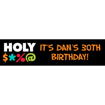 Holy Bleep Personalized Banner (Each)