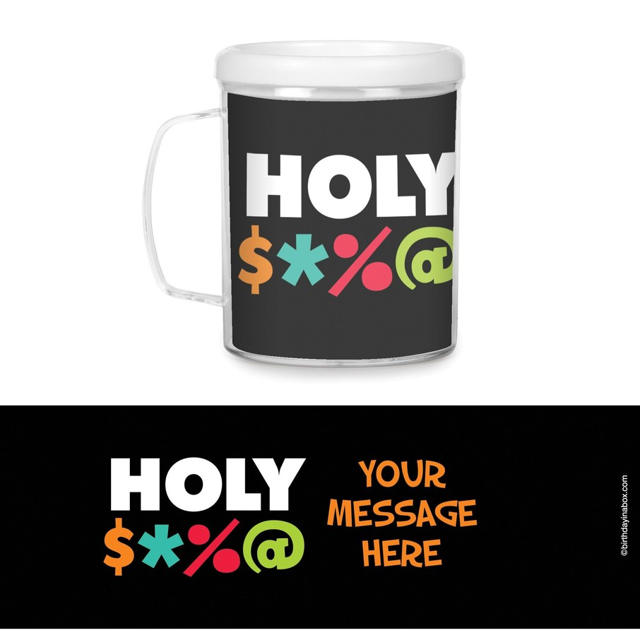 View larger image of Holy Bleep Plastic Personalized Favor Mugs (Each)