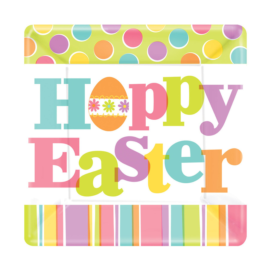 View larger image of Hoppy Easter Square Dessert Plate (18)