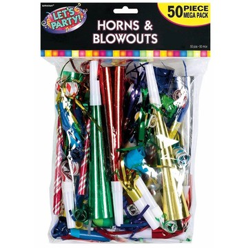 Horn & Blowout Multicolor Value Pack (50 Count)