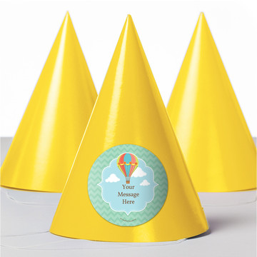 Hot Air Balloon Personalized Party Hats (8 Count)