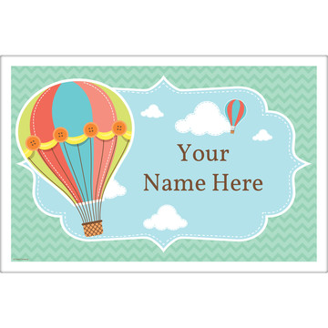 Hot Air Balloon Personalized Placemat (Each)