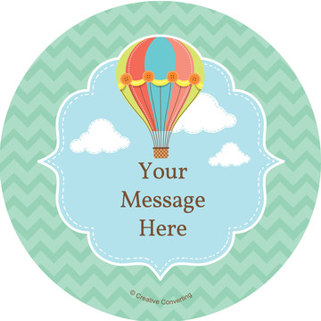 Hot Air Balloon Personalized Stickers (Sheet of 12)