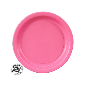 Hot Pink Dessert Paper Plates (8 Count)
