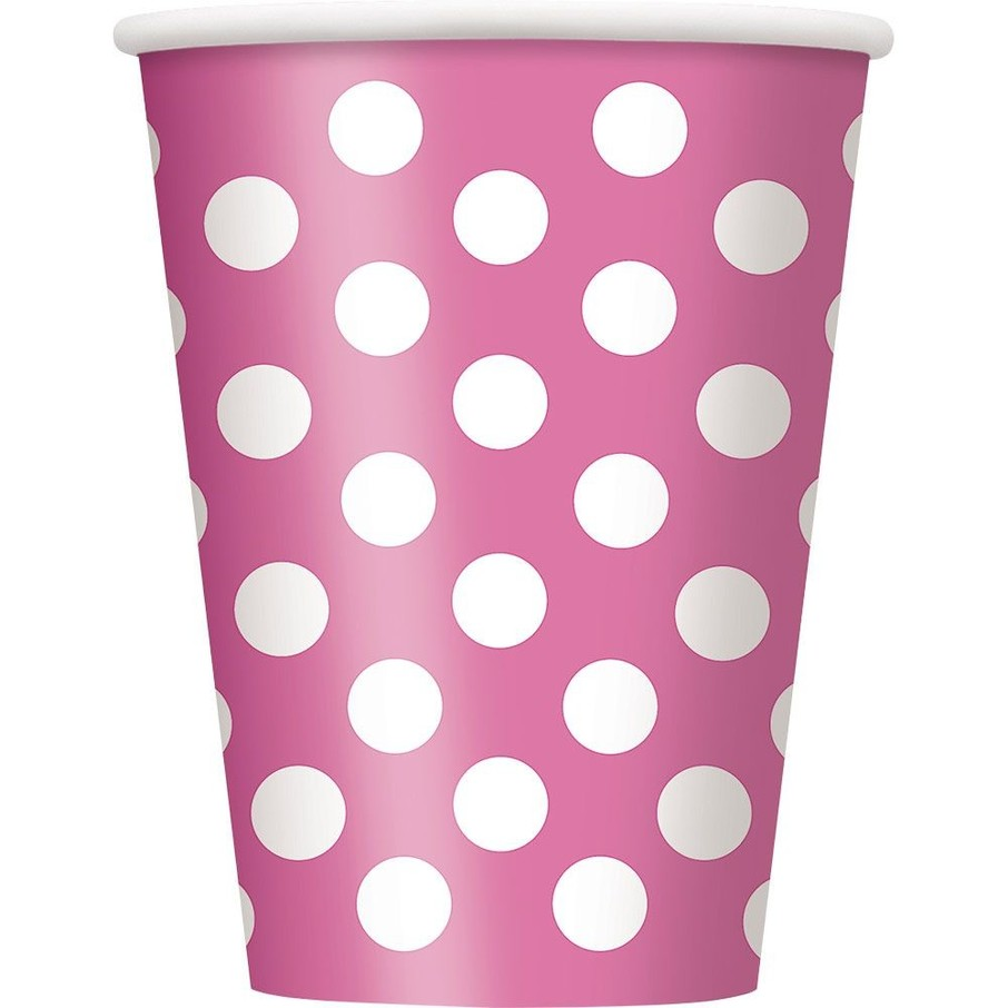 View larger image of Hot Pink Dots 12oz Cups (6 Pack)