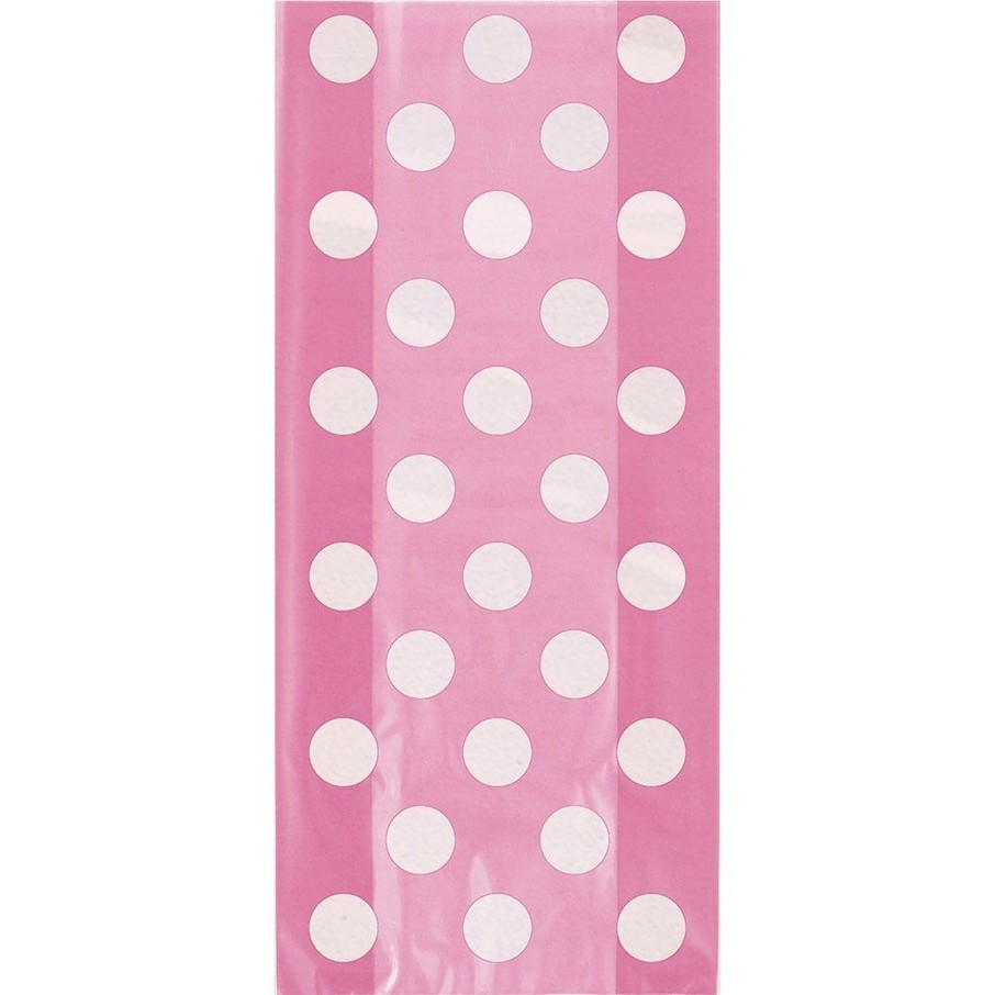 View larger image of Hot Pink Dots Cello Favor Bags (20 Pack)