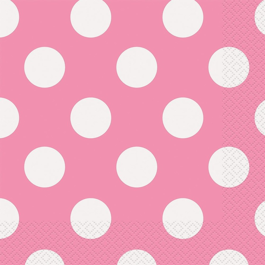 View larger image of Hot Pink Dots Luncheon Napkins (16 Count)