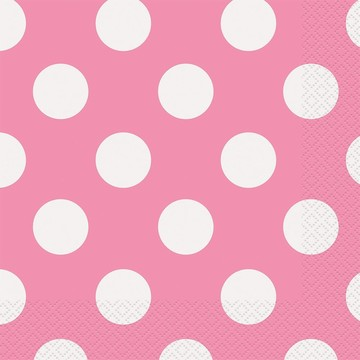 Hot Pink Dots Luncheon Napkins (16 Count)