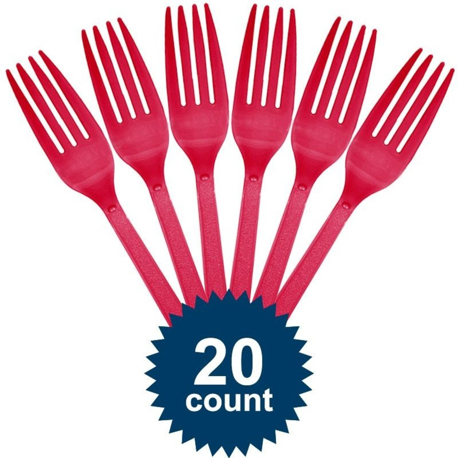 View larger image of Hot Pink Plastic Forks