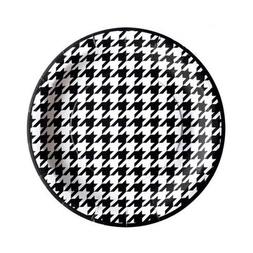 "Houndstooth Party Plates - 7"" (8)"