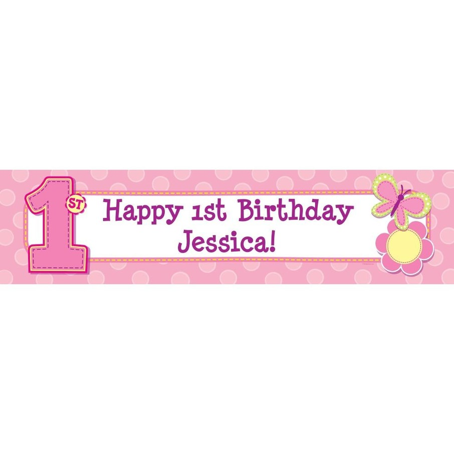 View larger image of Hugs and Stitches Girl Personalized Banner (Each)