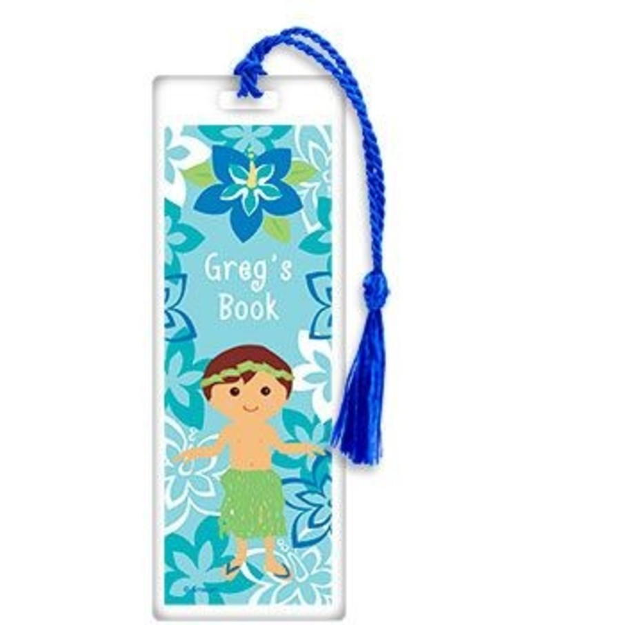 View larger image of Hula Boy Personalized Bookmark (each)