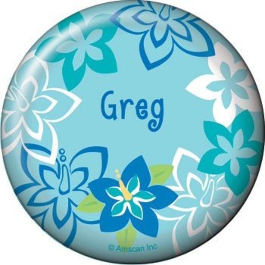 View larger image of Hula Boy Personalized Button (each)