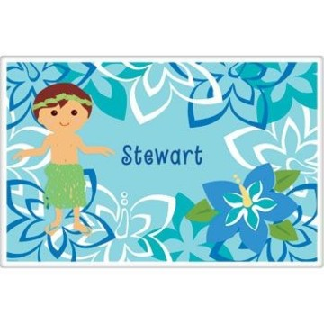 Hula Boy Personalized Placemat (each)