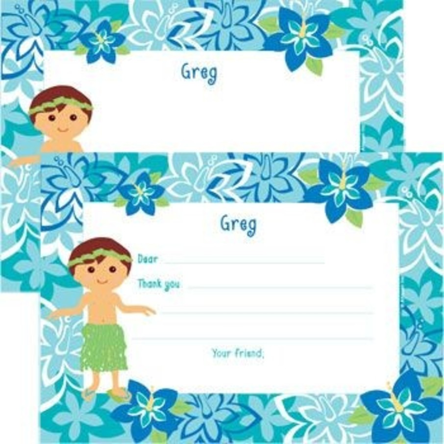 View larger image of Hula Boy Personalized Thank You Note (each)