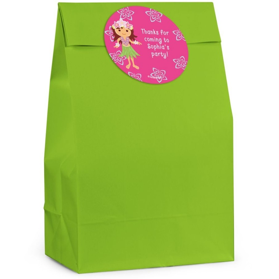 View larger image of Hula Girl Personalized Favor Bag (Set Of 12)