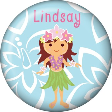 Hula Girl Personalized Mini Magnet (Each)