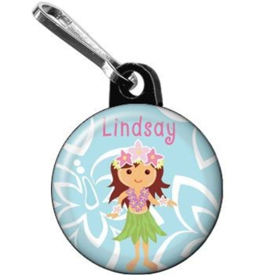 View larger image of Hula Girl Personalized Mini Zipper Pull (each)