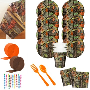 Hunting Camo Deluxe Tableware Kit