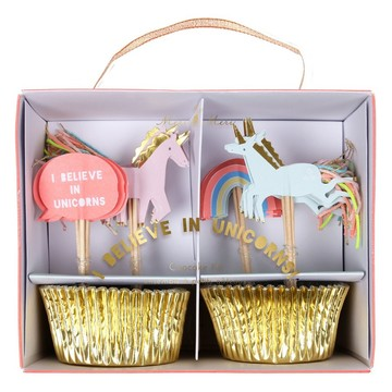 I Believe in Unicorns Cupcake Kit, 24ct