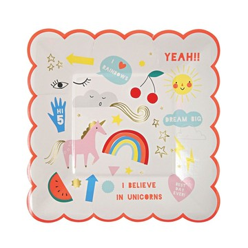 I Believe In Unicorns Dessert Plate, 12ct