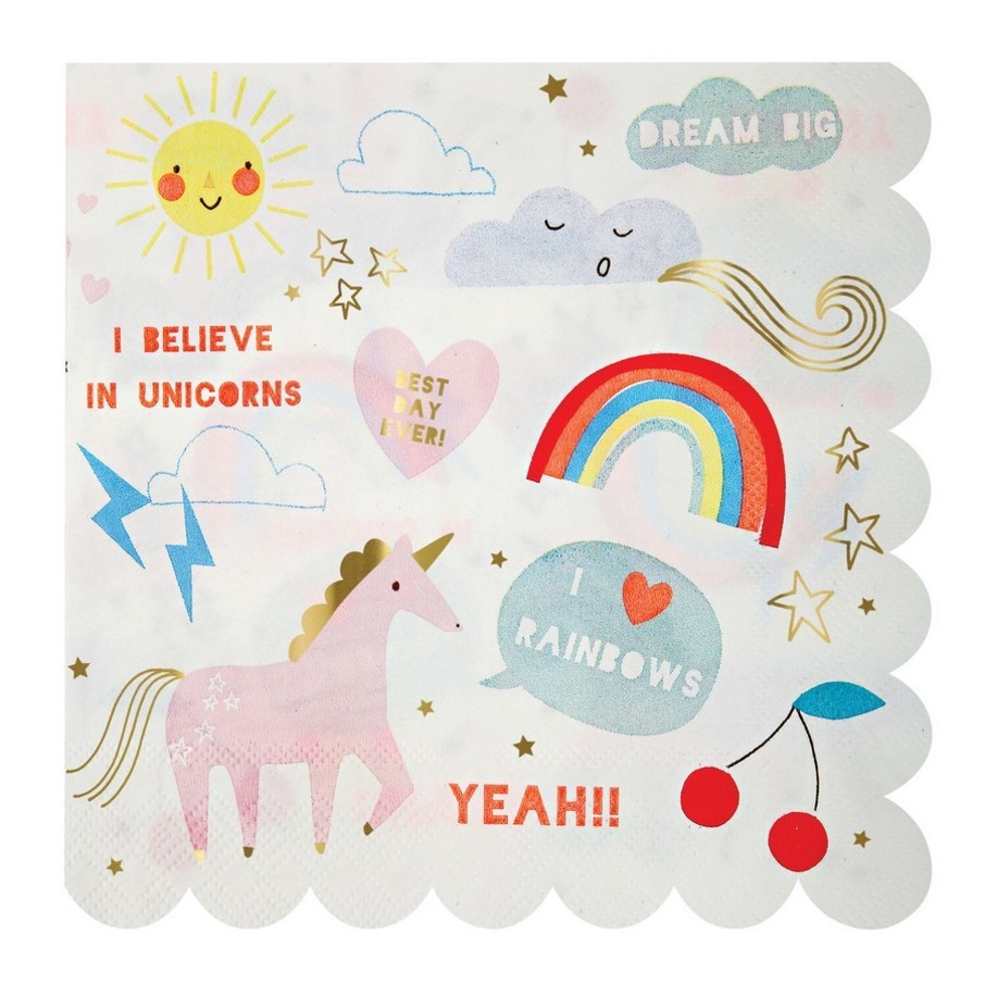View larger image of I Believe In Unicorns Lunch Napkins, 20ct