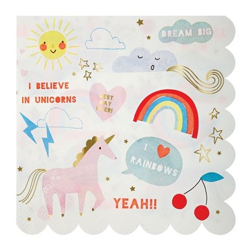 I Believe In Unicorns Lunch Napkins, 20ct