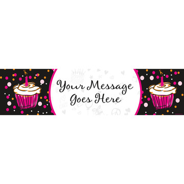 I love Cake Personalized Banner (Each)
