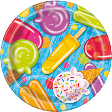 "Ice Cream 9"" Lunch Plates (8 Count)"