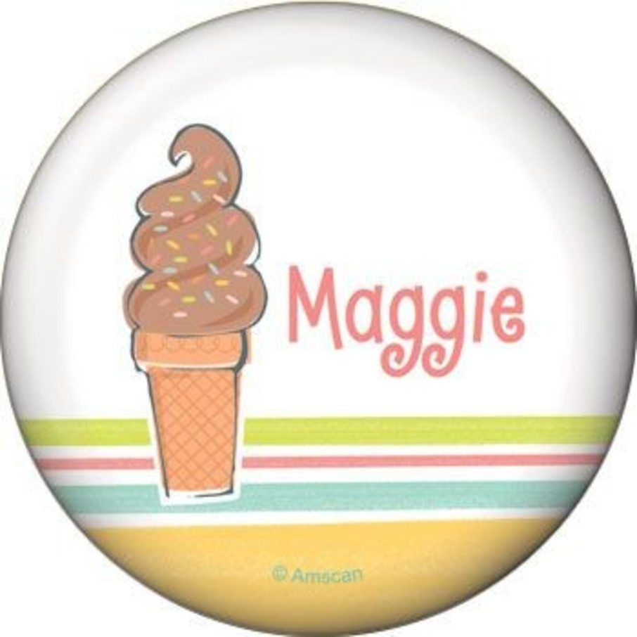 View larger image of Ice Cream Party Personalized Button (each)