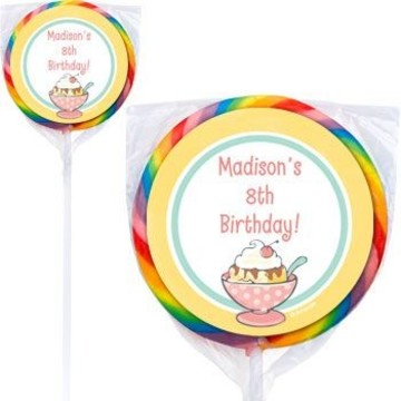 Ice Cream Party Personalized Lollipops (pack of 12)