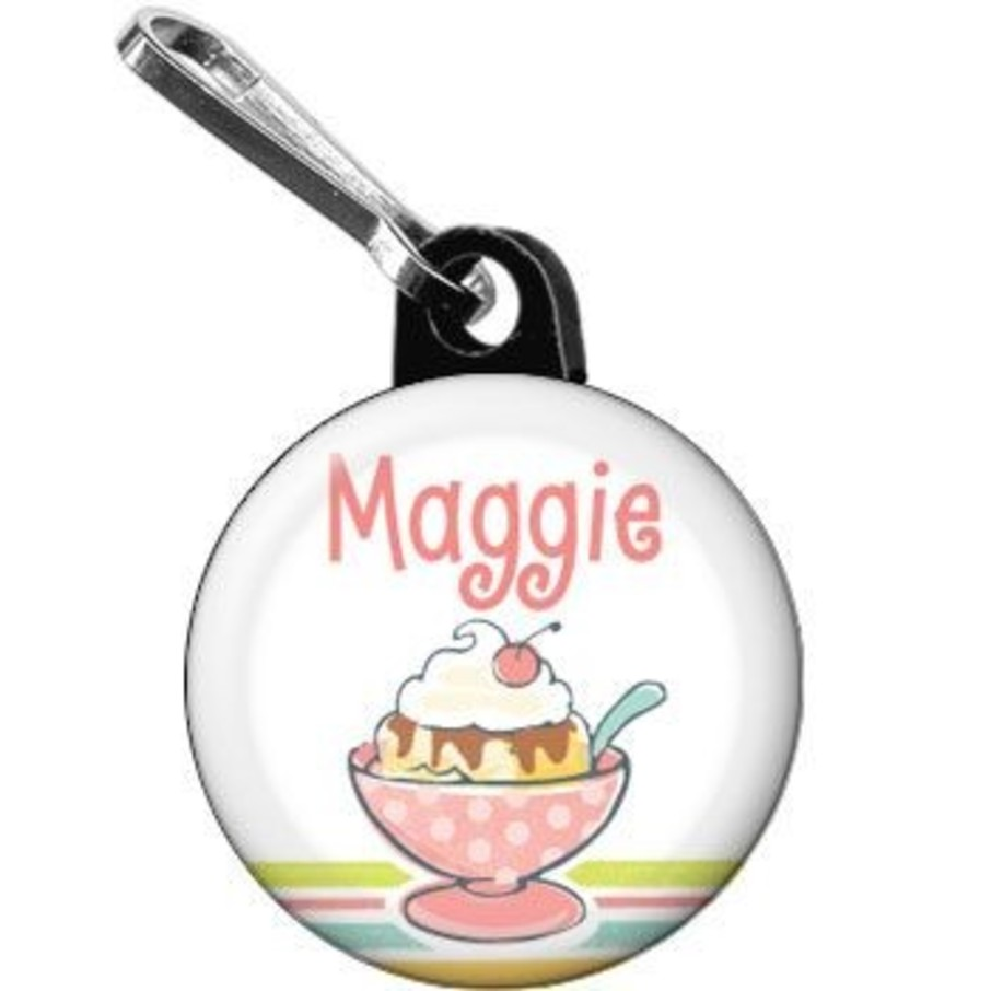 View larger image of Ice Cream Party Personalized Mini Zipper Pull (each)
