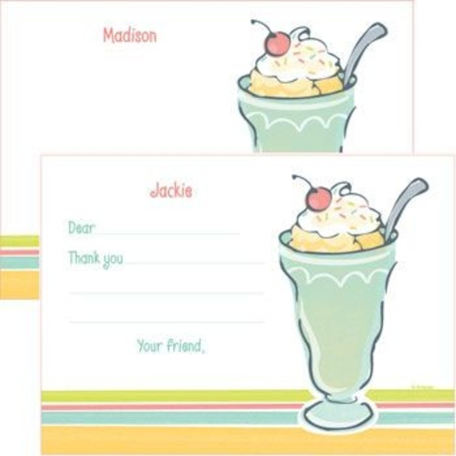 View larger image of Ice Cream Party Personalized Thank You Note (each)