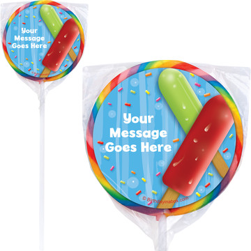 Ice Cream Personalized Lollipops (12 Pack)