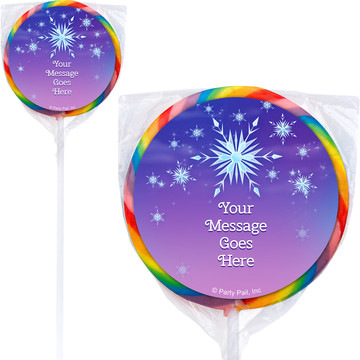 Ice Princess Personalized Lollipops (12 Pack)