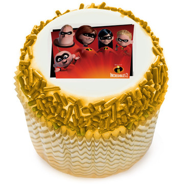 Incredibles 2 Edible Cupcake Topper (12 Images)