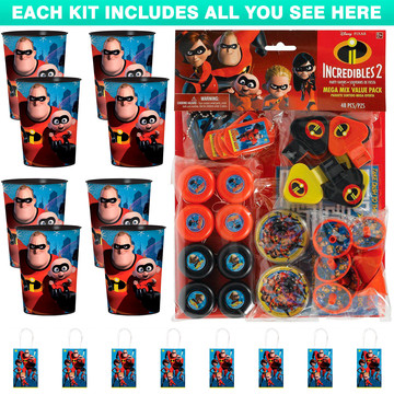Incredibles 2 Favor Kit (For 8 Guests)