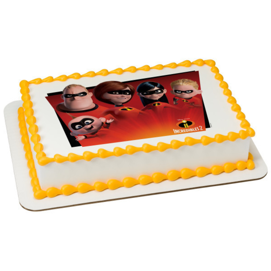 View larger image of Incredibles 2 Quarter Sheet Edible Cake Topper (Each)