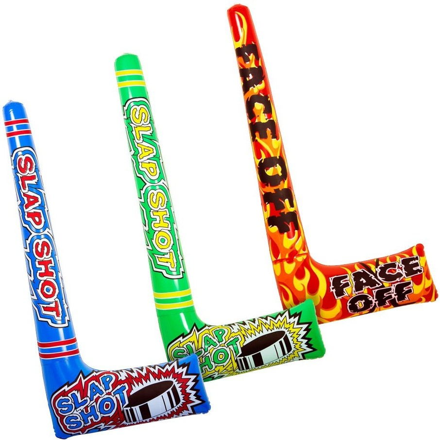 """View larger image of Inflatable 37"""" Hockey Sticks (12 pack)"""